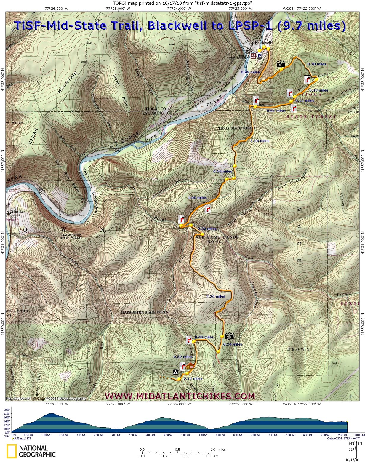 Blackwell To Little Pine State Park